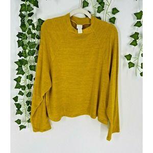 H&M Mock Neck Knit Oversized Sweater Long Sleeve